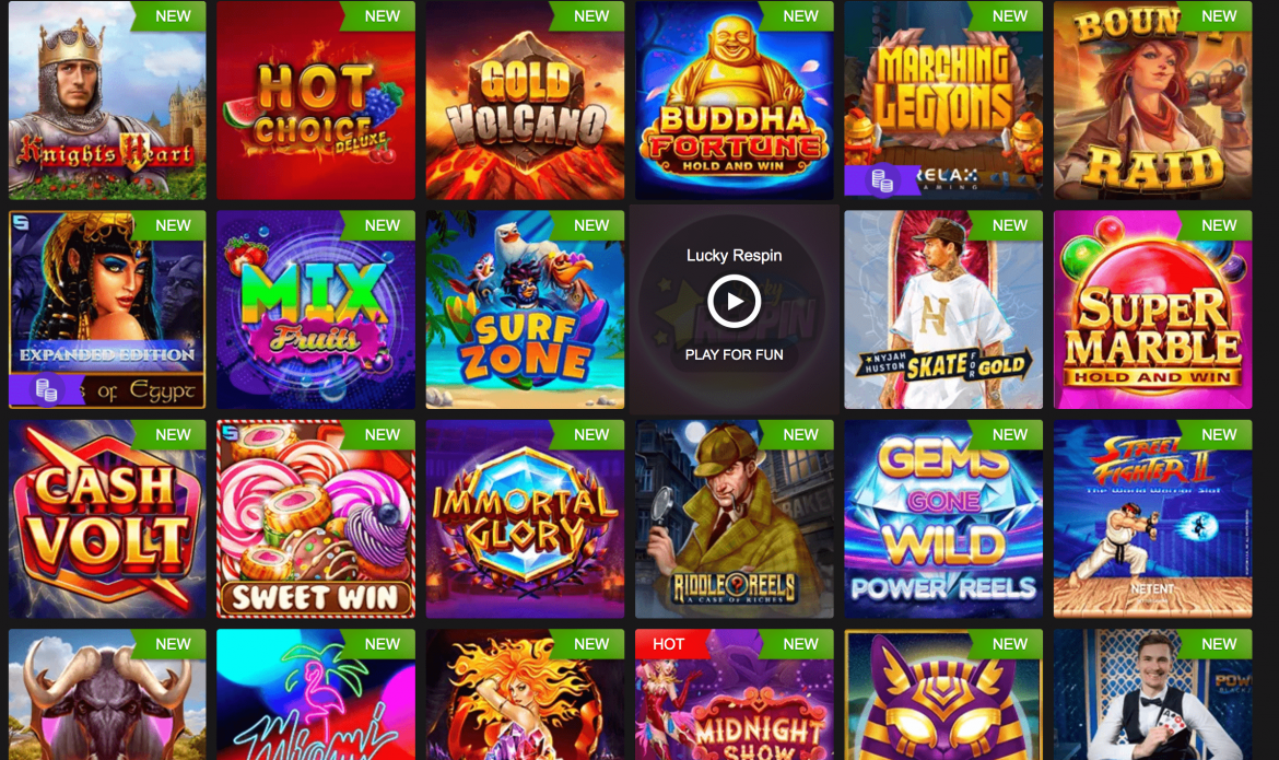 Fastpay Casino Games